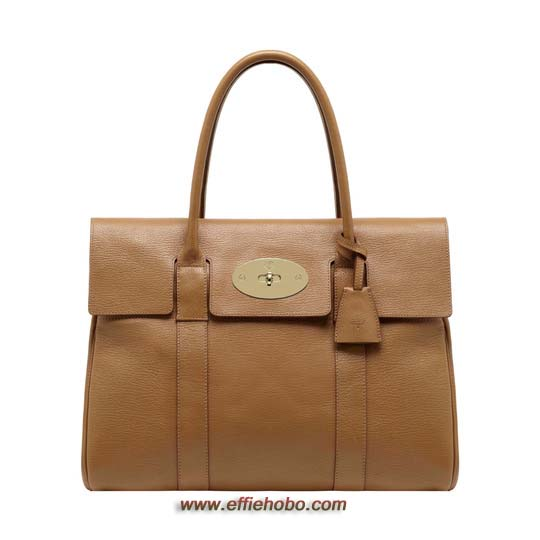 Mulberry Bayswater Deer Brown Grainy Print Leather