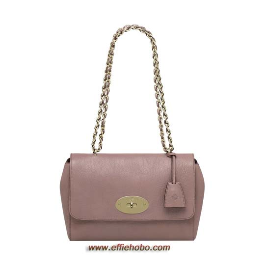 Mulberry Medium Lily Dark Blush Glossy Goat Leather