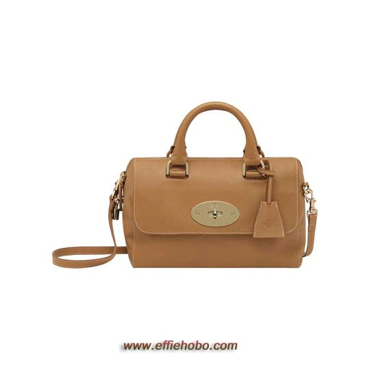Mulberry Small Del Rey Deer Brown Grainy Print Leather
