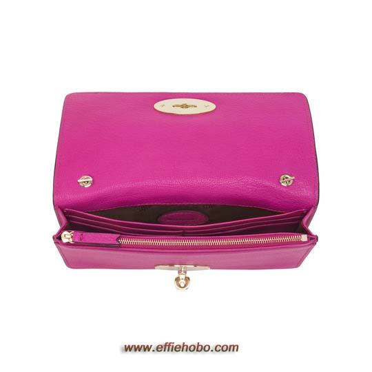 Mulberry Bayswater Clutch Wallet Mulberry Pink Glossy Goat