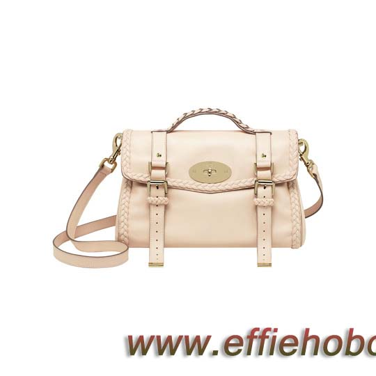 Mulberry Alexa with Woven Trim Creamy Pink Small Grain Calf Nappa