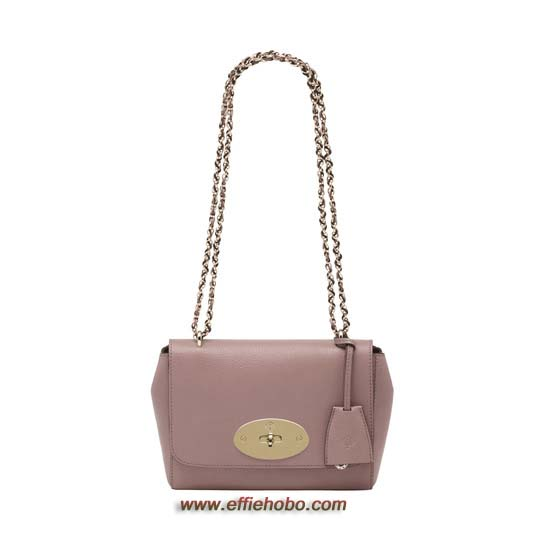 Mulberry Lily Dark Blush Glossy Goat Leather