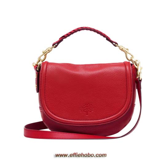 Mulberry Small Effie Satchel Bright Red Spongy Pebbled