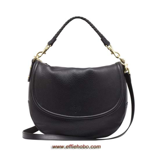 Mulberry Effie Satchel Black Spongy Pebbled