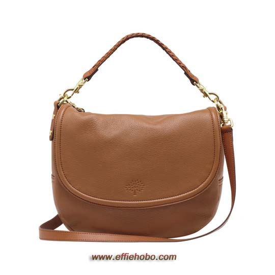 Mulberry Effie Satchel Oak Spongy Pebbled