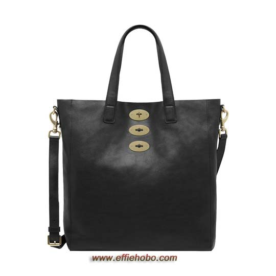 Mulberry Brynmore Tote Black Natural Leather