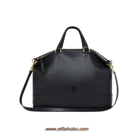Mulberry Effie Tote Black Spongy Pebbled