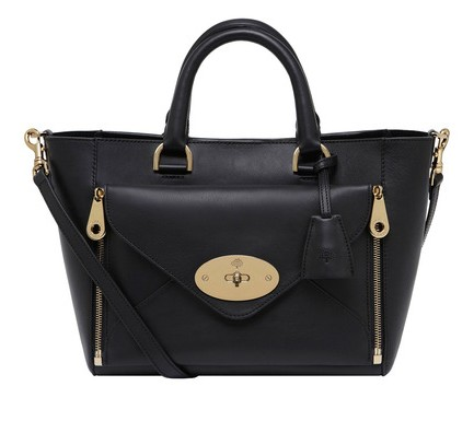 Mulberry Small Willow Tote Black Silky Classic Calf with Soft Gold