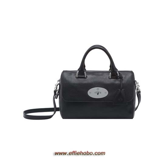 Mulberry Small Del Rey Black Glossy Goat with Nickel
