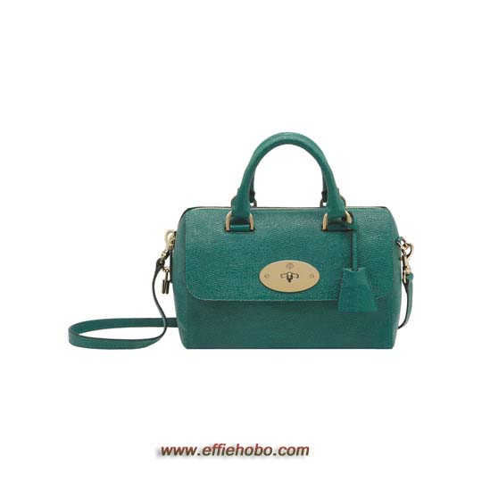 Mulberry Small Del Rey Emerald Textured Lizard Print