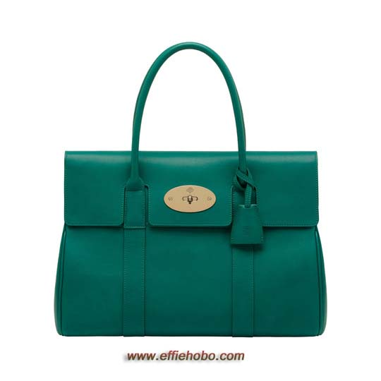 Mulberry Bayswater Emerald Micrograin Calf