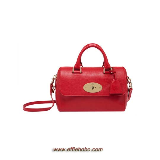 Mulberry Small Del Rey Bright Red Shiny Goat