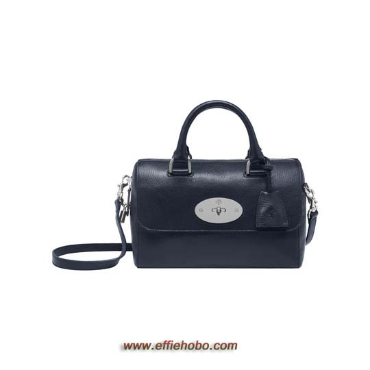 Mulberry Small Del Rey Midnight Blue Shiny Goat