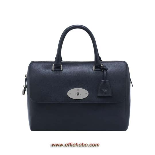 Mulberry Del Rey Midnight Blue Shiny Goat