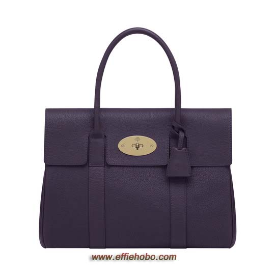 Mulberry Bayswater Aubergine Grainy Calf - Click Image to Close