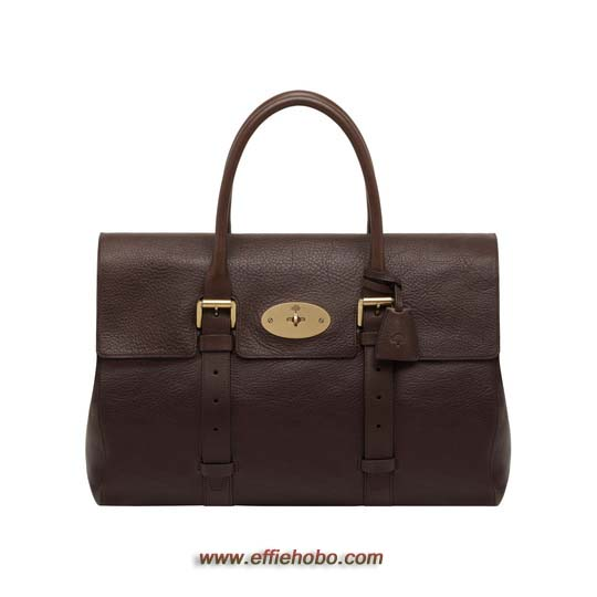 Mulberry Oversized Bayswater Chocolate Natural Leather