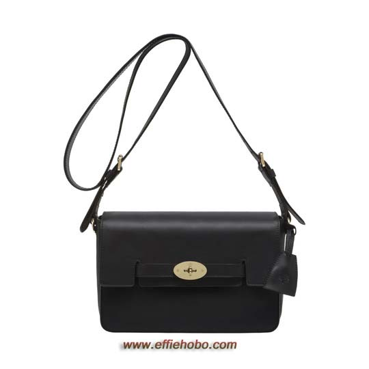 Mulberry Bayswater Shoulder Black Polished Calf