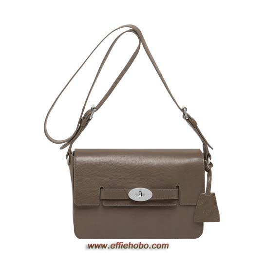 Mulberry Bayswater Shoulder Taupe Shiny Goat