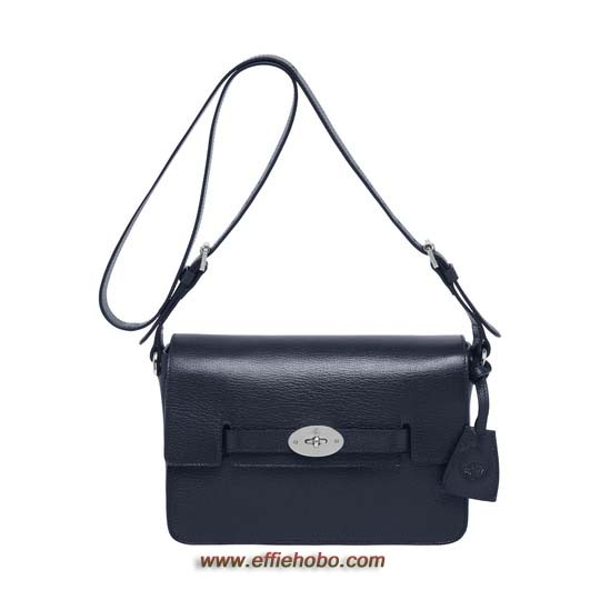 Mulberry Bayswater Shoulder Midnight Blue Shiny Goat
