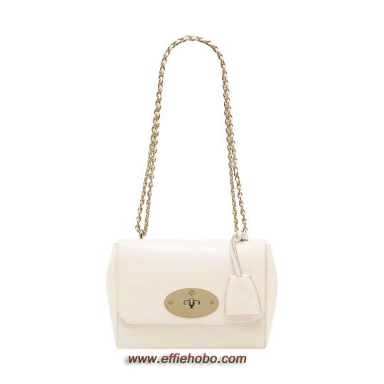 Mulberry Lily Off White Shiny Goat