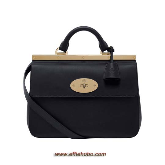 Mulberry Small Suffolk Black Classic Calf