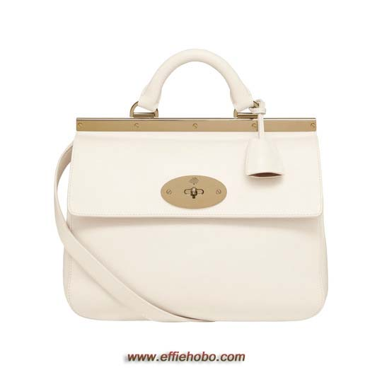 Mulberry Small Suffolk Off White Classic Calf