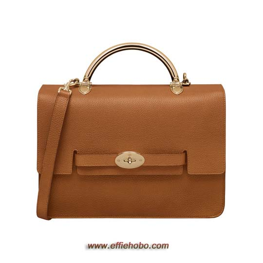 Mulberry Large Bayswater Shoulder Ginger Grainy Calf