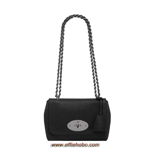 Mulberry Lily Black Soft Grain with Nickel
