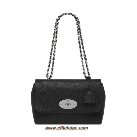 Mulberry Medium Lily Black Soft Grain with Nickel