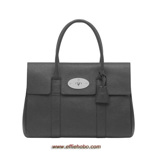 Mulberry Bayswater Black Soft Grain with Nickel