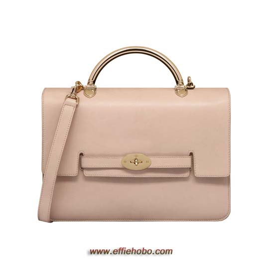 Mulberry Large Bayswater Shoulder Oatmeal Micrograin Calf