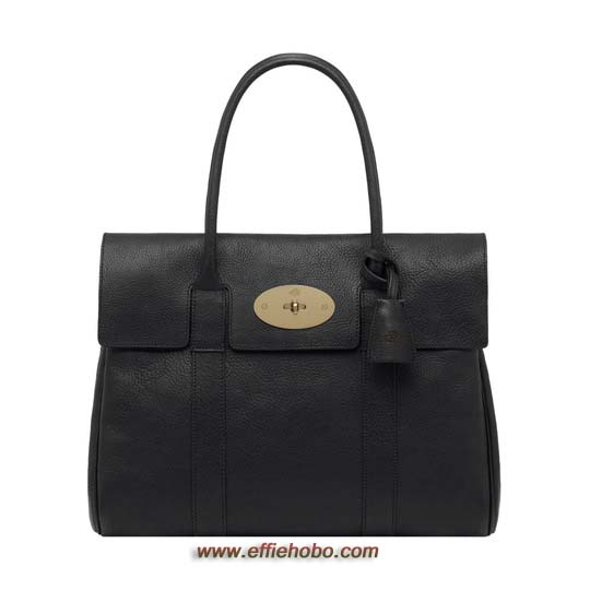 Mulberry Bayswater Black Natural Leather with Brass