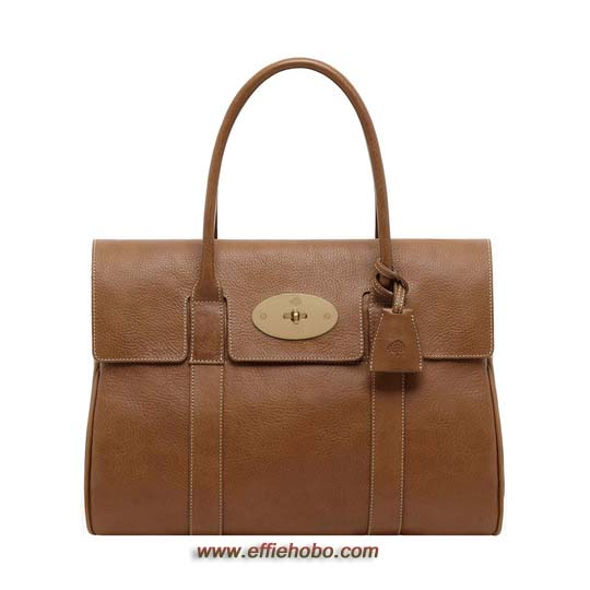 Mulberry Bayswater Oak Natural Leather with Brass