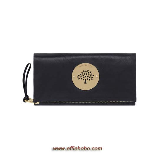 Mulberry Daria Clutch Black Soft Spongy Leather