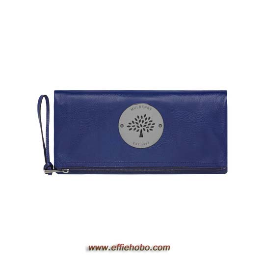 Mulberry Daria Clutch Cosmic Blue Soft Spongy