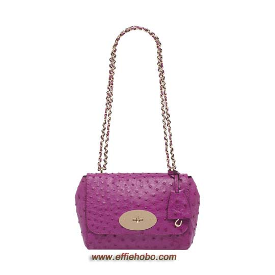 Mulberry Lily Hot Fuchsia Ostrich