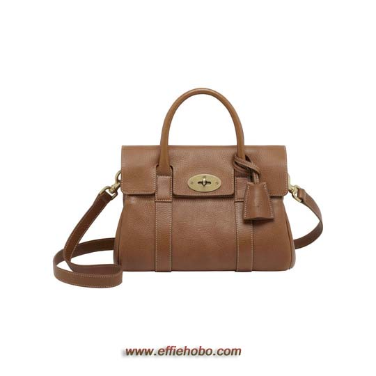 Mulberry Small Bayswater Satchel Oak Natural Leather