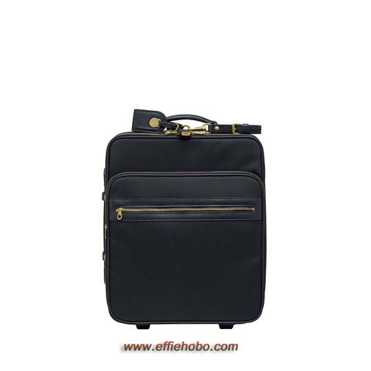 Mulberry Henry Trolley Case Black Textured Nylon