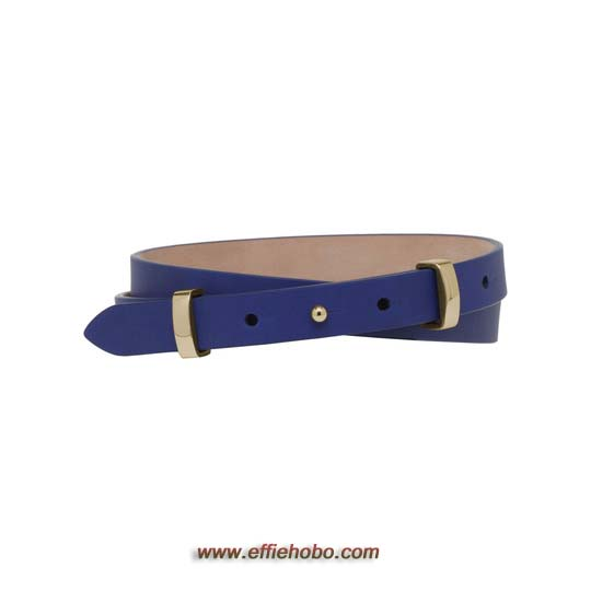 Mulberry Metal Loop Belt Cosmic Blue Polished Calf
