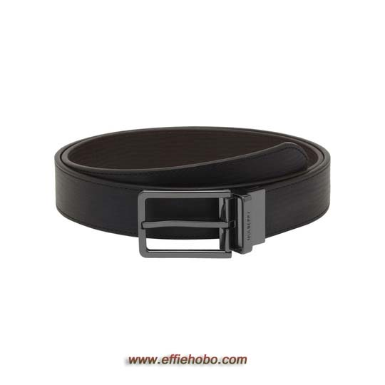 Mulberry Reversible Prong Belt Black & Chocolate Hand Rolled