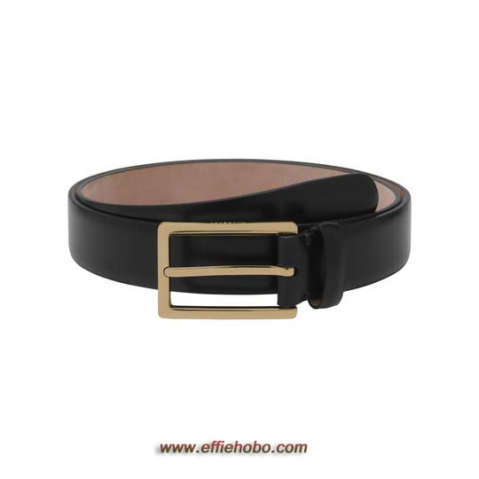 Mulberry Long Buckle Belt Black Smooth Classic