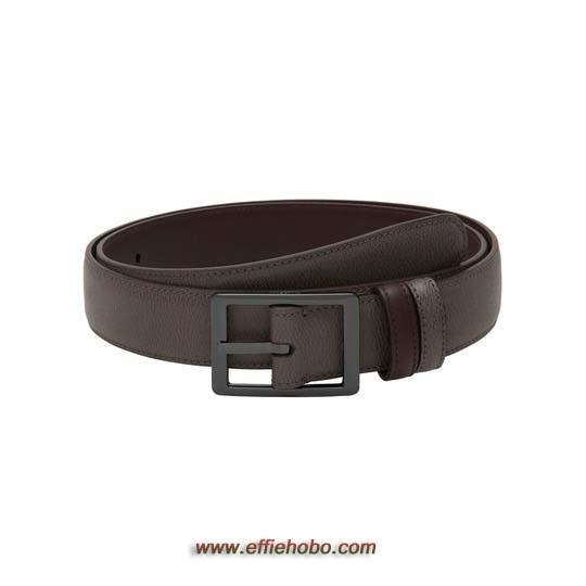 Mulberry Reversible Frame Buckle Belt Grey Saddle & Brown Classic Printed Leather