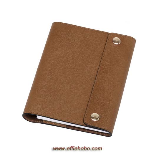 Mulberry A6 Notebook Cover Oak Natural Leather