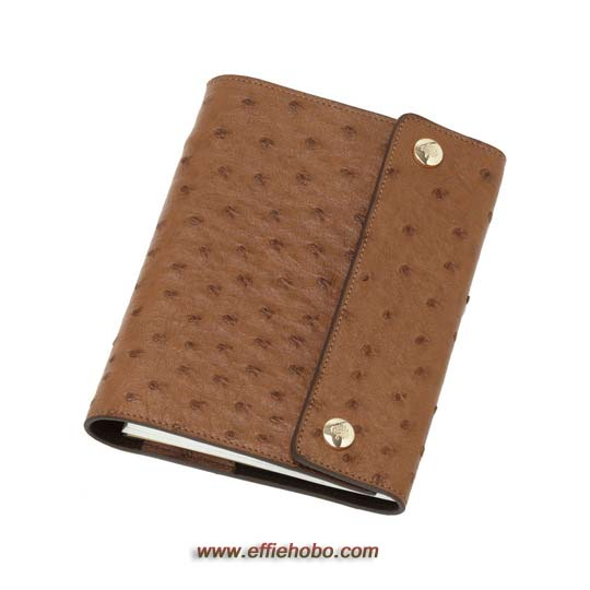 Mulberry A6 Notebook Cover Oak Ostrich