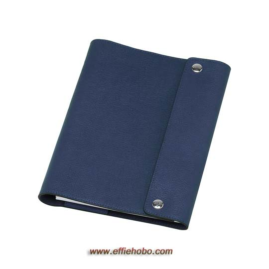 Mulberry A5 Notebook Cover Slate Blue Grainy Print