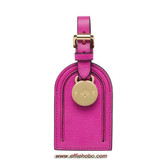 Mulberry Luggage Tag Mulberry Pink Glossy Goat