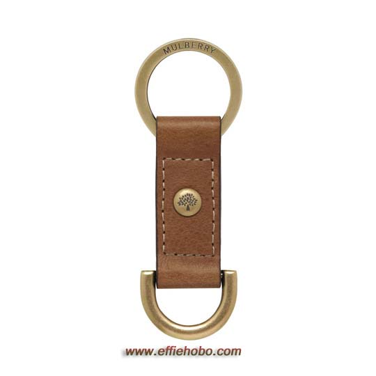 Mulberry Antony Keyring Oak Natural Leather
