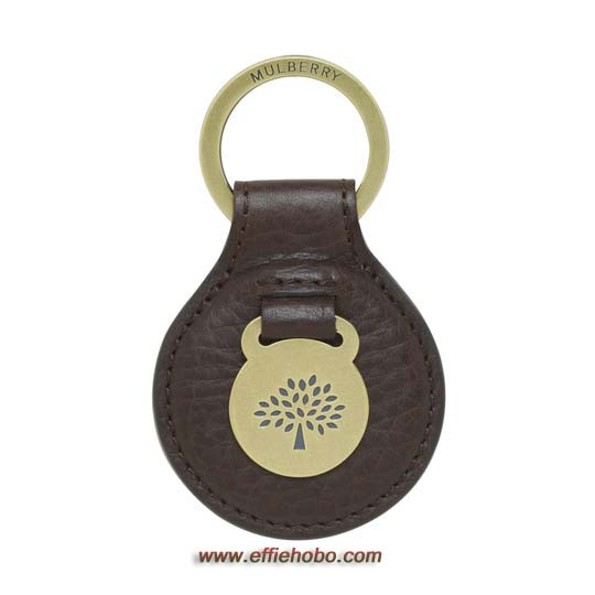 Mulberry Heritage Keyring Chocolate Natural Leather