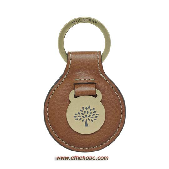 Mulberry Heritage Keyring Oak Natural Leather