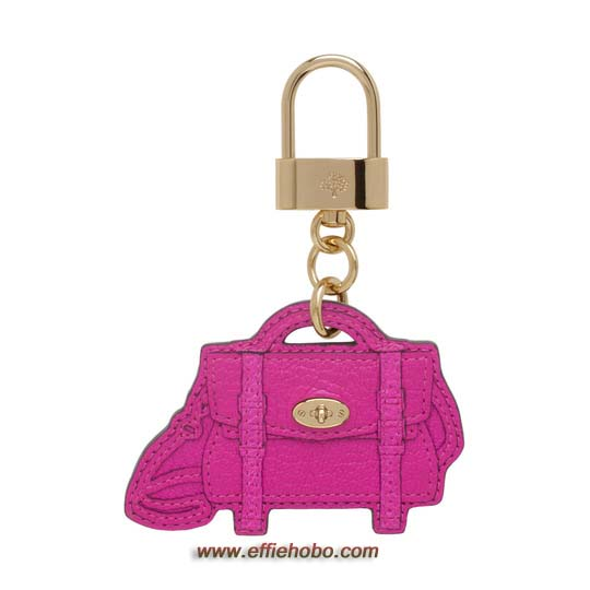 Mulberry Alexa Bag Charm Mulberry Pink Glossy Goat